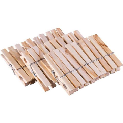 60 Pine Wooden Clothes Line Pegs
